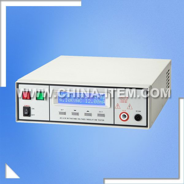 AC 5kV Withstand Voltage Tester, DC 6kV Hipot Tester, AC & DC Programmable Insulation / Hi-pot Tester